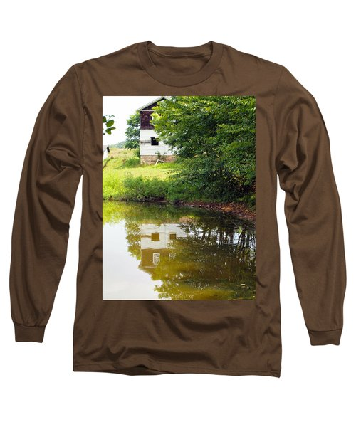 Water Reflections Long Sleeve T-Shirt by Robert Margetts
