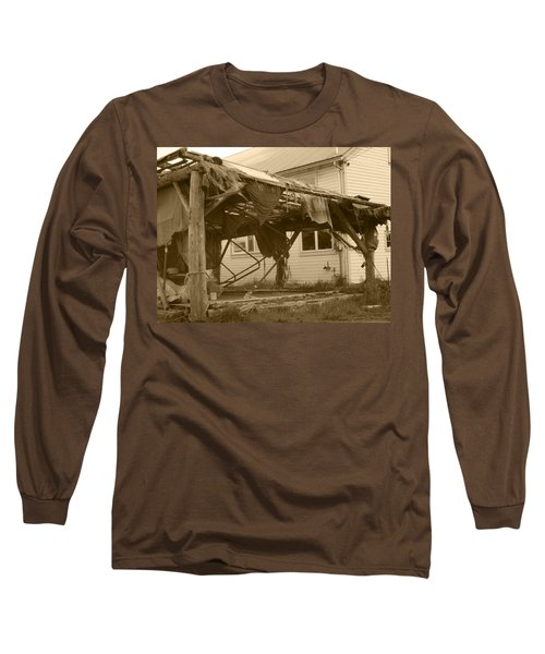 Long Sleeve T-Shirt featuring the photograph Weathered And Blown To Pieces by Kym Backland