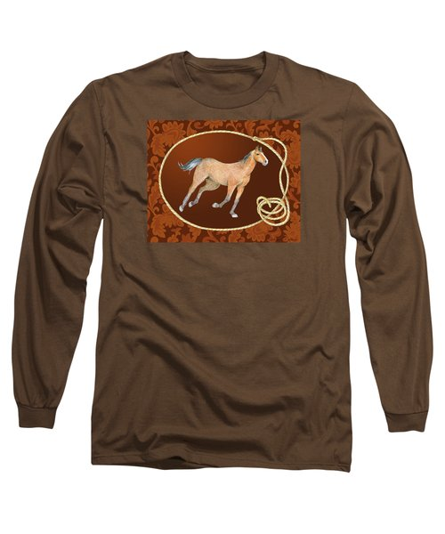 Western Roundup Running Horse Long Sleeve T-Shirt