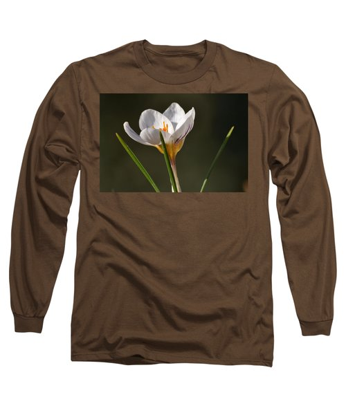 White Crocus Long Sleeve T-Shirt