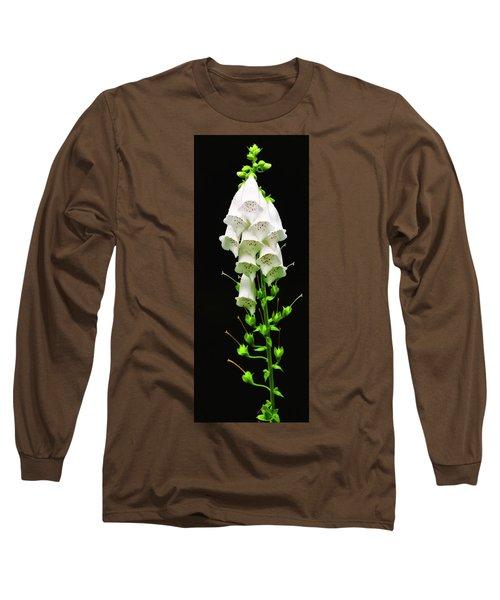 Long Sleeve T-Shirt featuring the photograph White Foxglove by Albert Seger