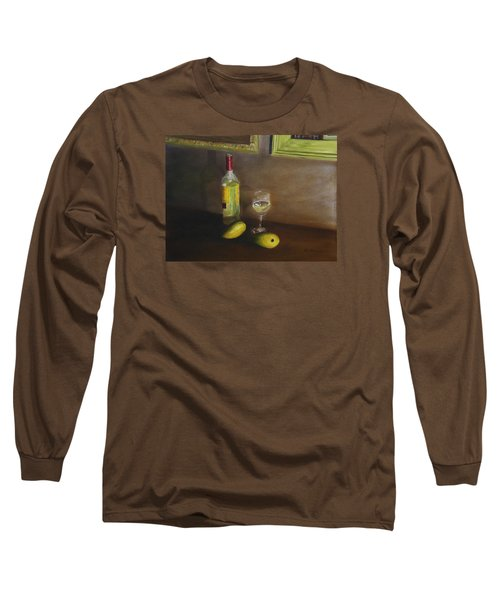 White Wine And Mangoes Long Sleeve T-Shirt by Alan Mager
