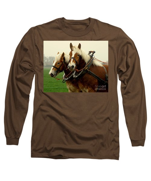 Long Sleeve T-Shirt featuring the photograph Work Horses by Lainie Wrightson