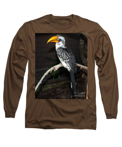 Long Sleeve T-Shirt featuring the photograph Yellow-billed Hornbill by Kathy  White