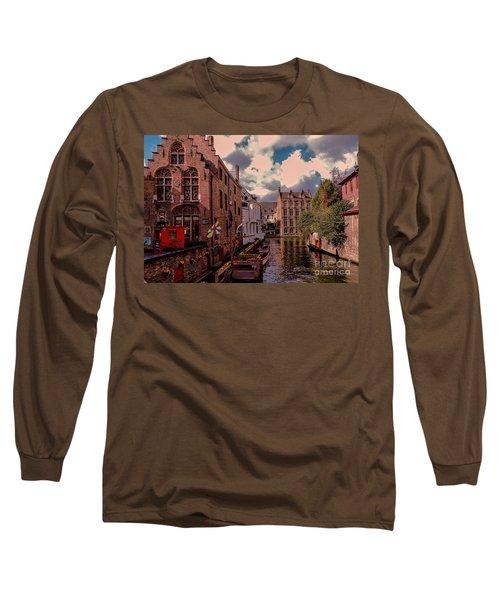 Brugge Belgium Long Sleeve T-Shirt by Mim White