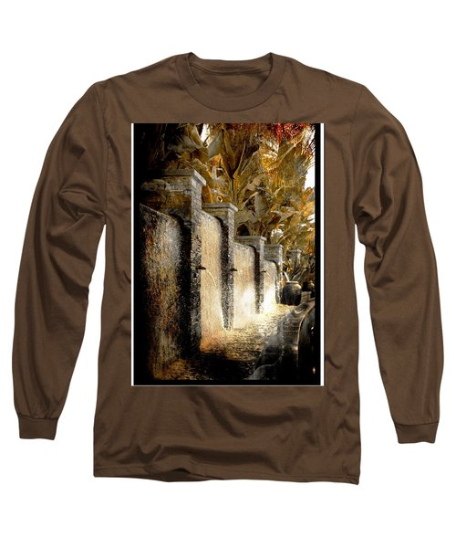 Flowing Waterfall  Long Sleeve T-Shirt by Athala Carole Bruckner