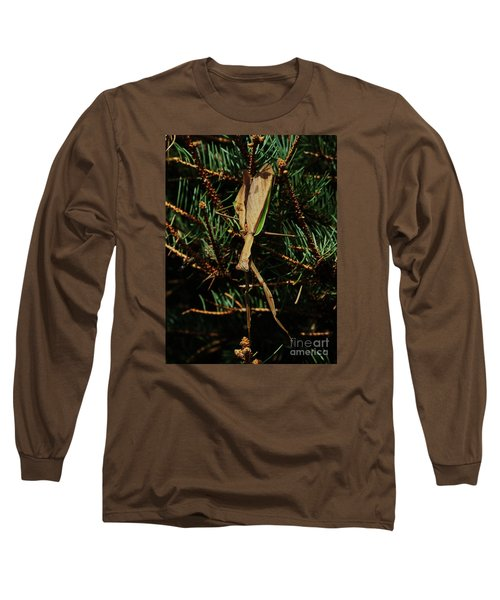 Long Sleeve T-Shirt featuring the photograph  Hanging Mantis  by J L Zarek