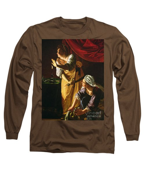 Judith And Maidservant With The Head Of Holofernes Long Sleeve T-Shirt