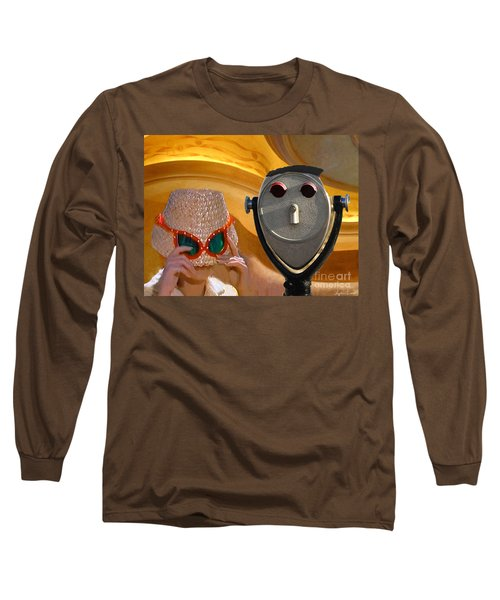 Long Sleeve T-Shirt featuring the digital art  Metered Thoughts by Lyric Lucas