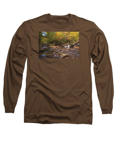 Long Sleeve T-Shirt featuring the photograph  Watching The Waters Meet by Gene Walls