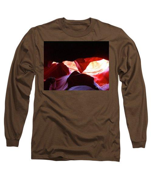 Antelope Slot Canyon - Astounding Range Of Colors Long Sleeve T-Shirt by Merton Allen