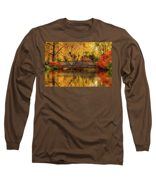 Autumn In The Park Long Sleeve T-Shirt by Teri Virbickis