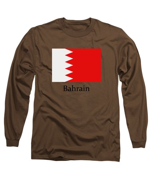 Bahrain Flag Long Sleeve T-Shirt