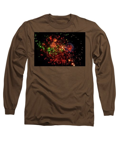 Beautiful Fireworks Against The Black Sky Of The New Year Long Sleeve T-Shirt