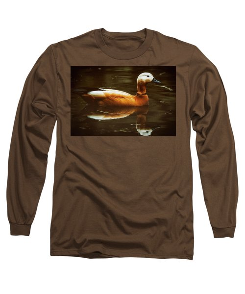Long Sleeve T-Shirt featuring the photograph Beautiful Rust Goose by The 3 Cats