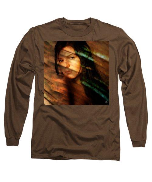 Behind The Curtain Long Sleeve T-Shirt by Gun Legler