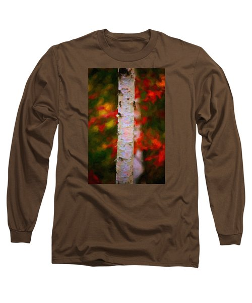 Birch Tree Long Sleeve T-Shirt by Andre Faubert