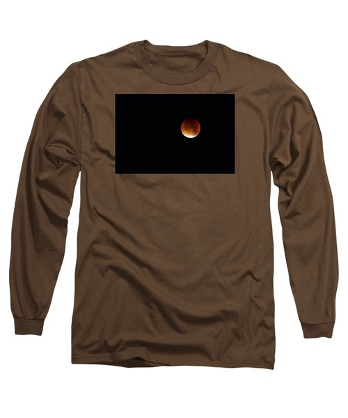 Blood Moon Super Moon 2015 Long Sleeve T-Shirt by Clare Bambers