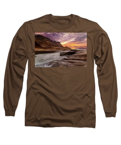 Cape Kiwanda Sunset Long Sleeve T-Shirt