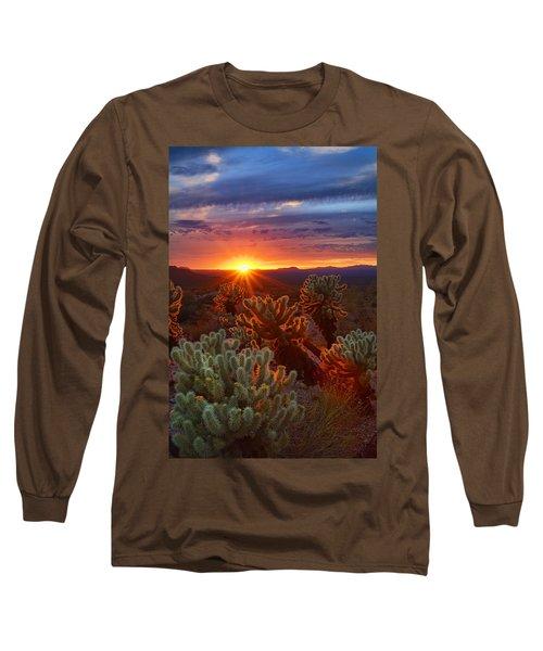 Cholla Sunset  Long Sleeve T-Shirt