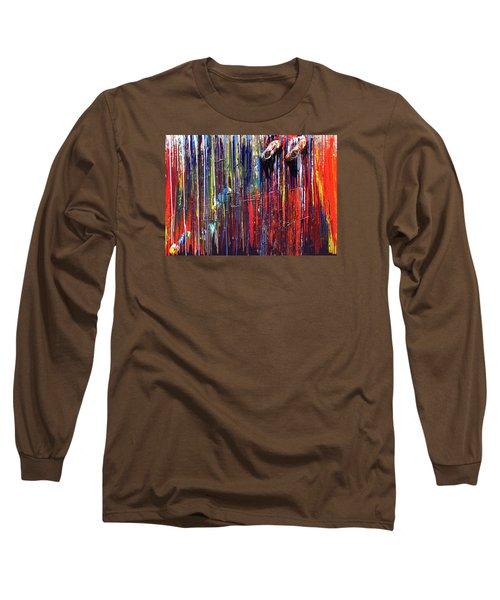 Climbing The Wall Long Sleeve T-Shirt by Ralph White