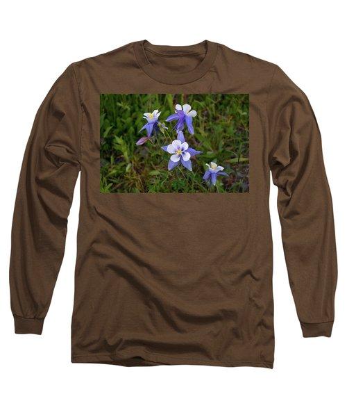 Long Sleeve T-Shirt featuring the photograph Colorado Columbine by Steve Stuller