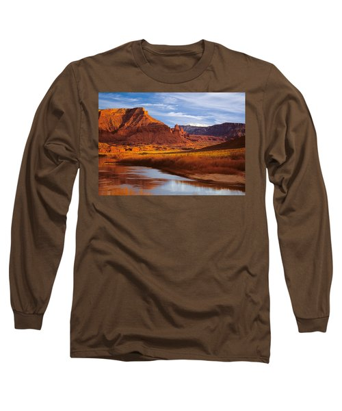 Colorado River At Fisher Towers Long Sleeve T-Shirt by Utah Images
