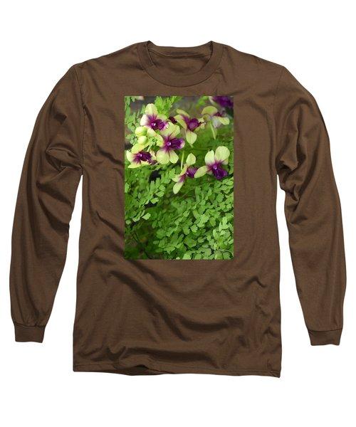 Contrasts Long Sleeve T-Shirt by Deborah  Crew-Johnson