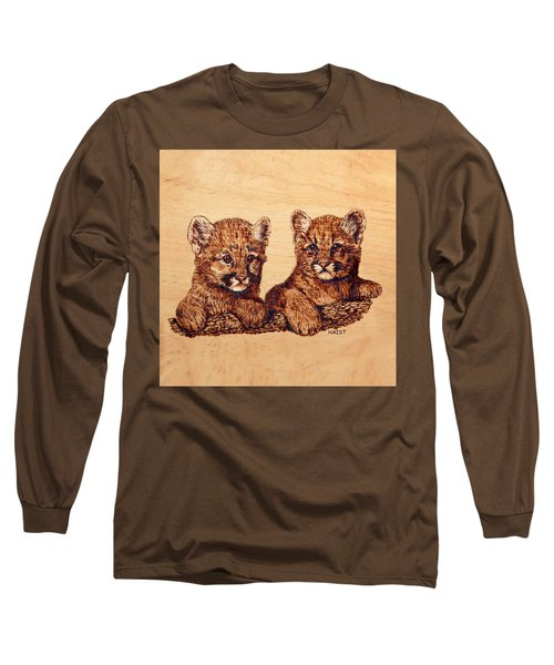 Cougar Cubs Long Sleeve T-Shirt by Ron Haist