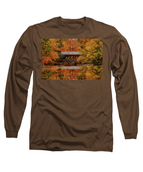 Covered Bridge At Sturbridge Village Long Sleeve T-Shirt