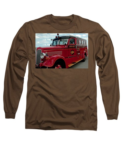 Detroit Fire Truck Long Sleeve T-Shirt