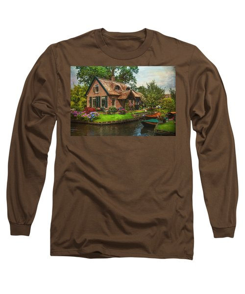 Fairytale House. Giethoorn. Venice Of The North Long Sleeve T-Shirt