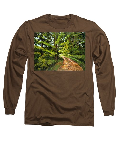 Forest Pathway Long Sleeve T-Shirt by Alexandra Maria Ethlyn Cheshire