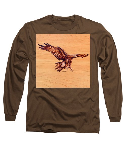 Golden Eagle Long Sleeve T-Shirt by Ron Haist