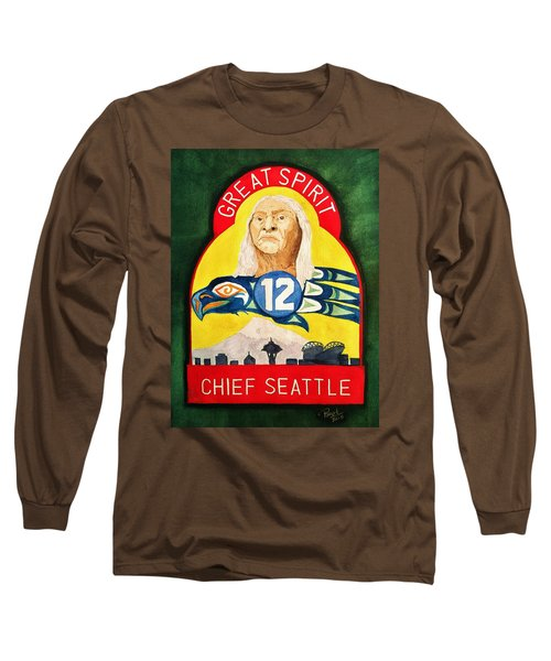 Great Spirit Seattle 12s Long Sleeve T-Shirt by Rand Swift
