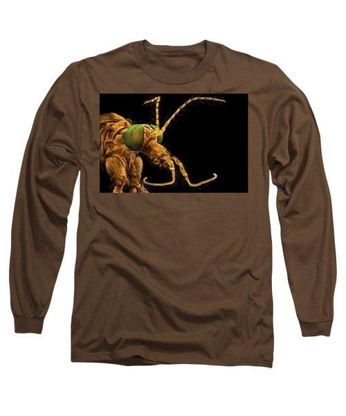 Green Eyed Crane Fly Long Sleeve T-Shirt