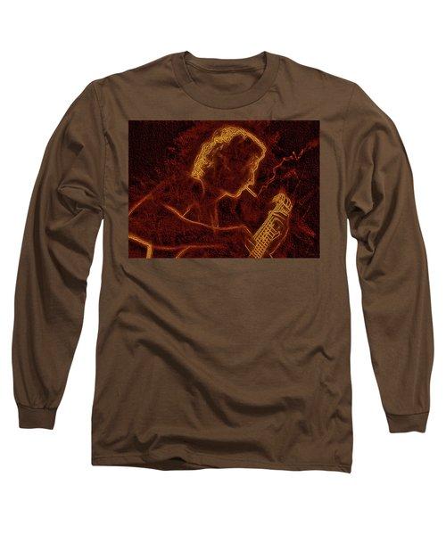 Guitar Player Long Sleeve T-Shirt by Alex Galkin