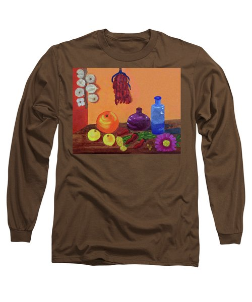Hanging Around With Spices Long Sleeve T-Shirt by Margaret Harmon