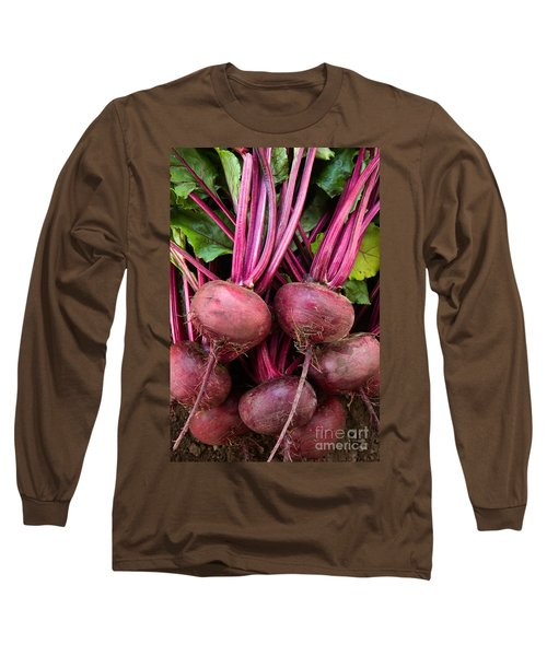 Harvested Organic Beets Long Sleeve T-Shirt