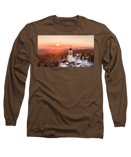 Heublein Tower In Simsbury, Connecticut Long Sleeve T-Shirt by Petr Hejl