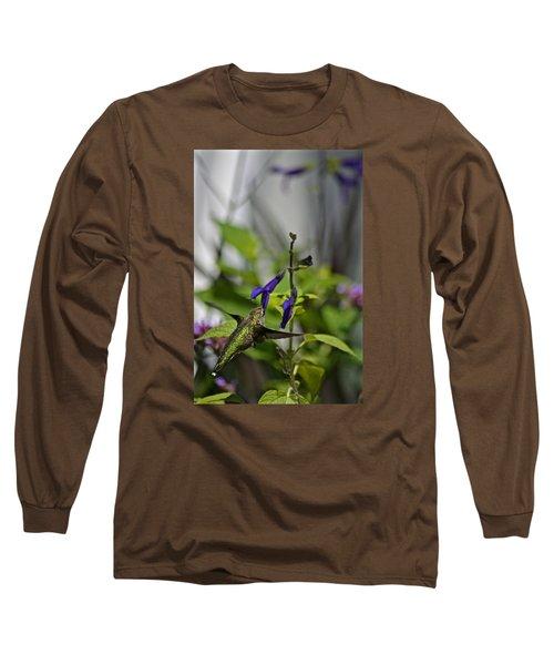 Hummingbird Long Sleeve T-Shirt by Tim Good