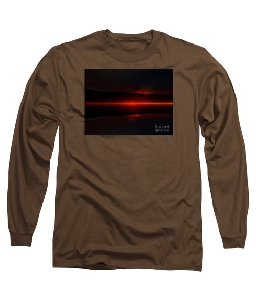 Island Fog Sunrise Long Sleeve T-Shirt