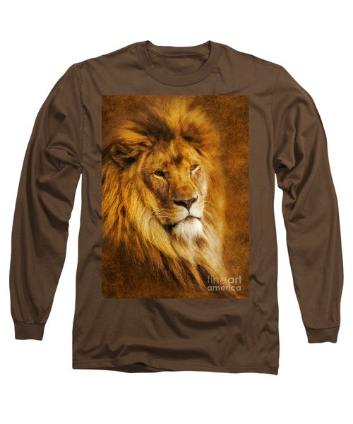 King Of The Beasts Long Sleeve T-Shirt by Ian Mitchell
