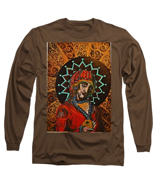 Lady Of Spades Long Sleeve T-Shirt by Sandro Ramani