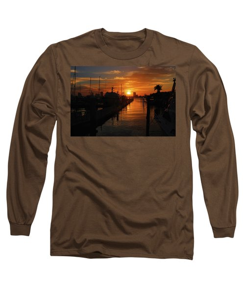 Long Sleeve T-Shirt featuring the photograph 1- Lake Park Marina by Joseph Keane