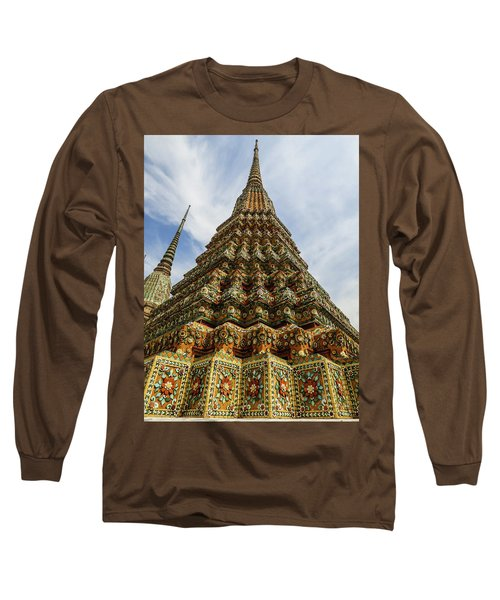 Large Colorful Stupa At Wat Pho Temple Long Sleeve T-Shirt