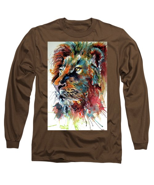 Lion Long Sleeve T-Shirt by Kovacs Anna Brigitta