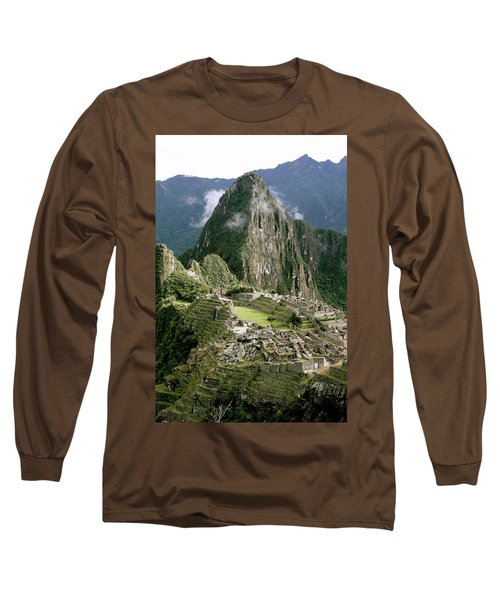 Machu Picchu At Sunrise Long Sleeve T-Shirt