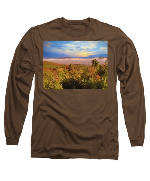 Morning Autumn Landscape Northern New Hampshire Long Sleeve T-Shirt