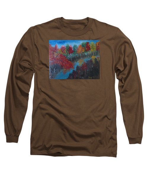 New Hampshire In Autumn Long Sleeve T-Shirt